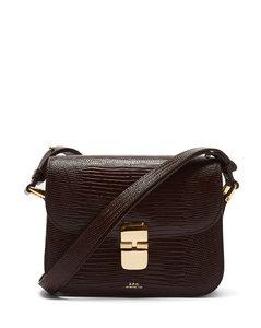 Grace lizard-effect leather shoulder bag