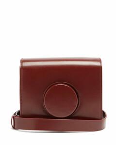 Camera mini leather cross-body bag