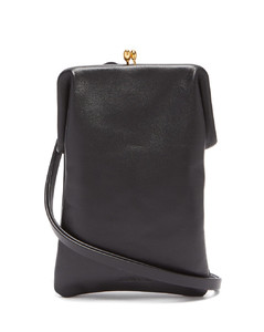 Two-strap leather cross-body bag