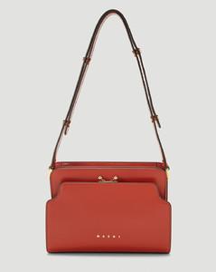 Reverse Trunk Shoulder Bag in Red