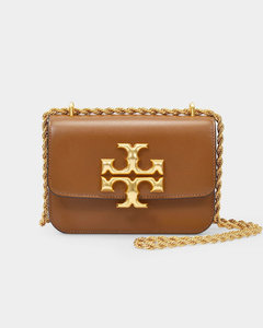 Eleanor Small Convertible Shoulder Bag in Brown Leather