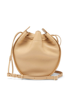 Drawstring-pouch leather cross-body bag