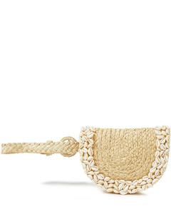 Woman Embellished Raffia Belt Bag