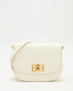 Leather Top Handle Bag In Tan