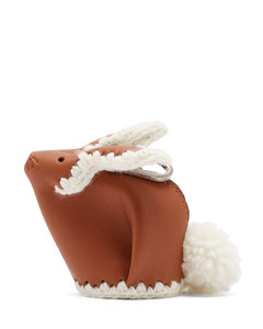 Bunny coin-purse leather key ring