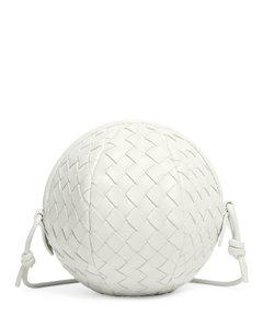 Branded shopper bag in white