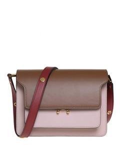Tricolour leather shoulder bag