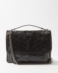 Niki medium YSL-plaque leather shoulder bag