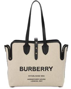 Medium Logo Print Canvas Tote Bag