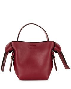 Musubi micro burgundy leather cross-body bag