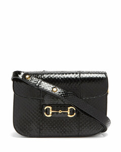 1955 Horsebit snakeskin shoulder bag