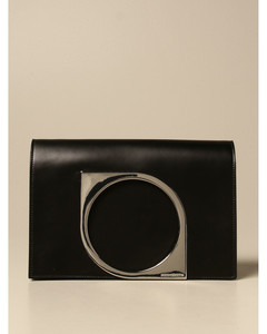 leather bag with metal plate