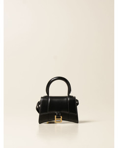 micro Hourglass bag in leather