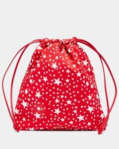 Star-print drawstring pouch