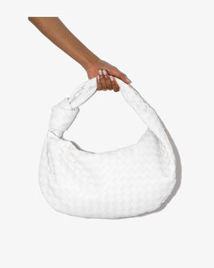 White The Small Jodie Leather Shoulder Bag