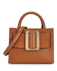Bobby 23 brown leather top handle bag