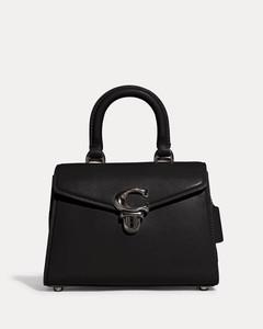 Black Leather Ff Backpack