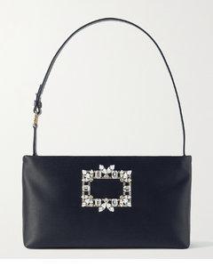 Nightlily Embellished Satin Shoulder Bag