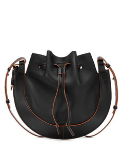 Horseshoe皮革单肩包