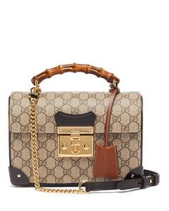 Padlock bamboo-handle GG Supreme handbag