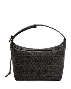 Leather-Anagram Jacquard Cubi Shoulder Bag