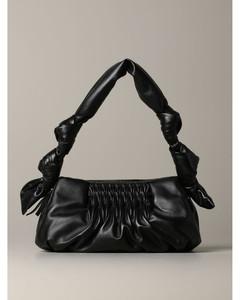 shoulder bag in laminated leather