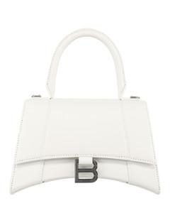 Hourglass top handle bag s whi...