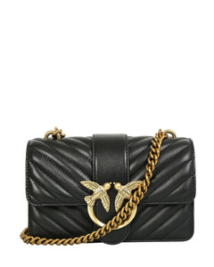 teddy bucket bag in fur and leather