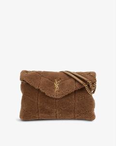 1845 mini saffiano-leather box bag