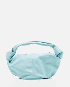 Mini hobo leather bag