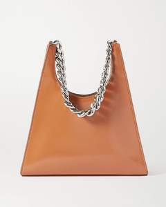 Rey Chain Glossed-leather Tote