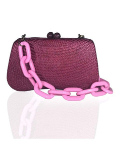 Alexa mini metallic leather satchel bag
