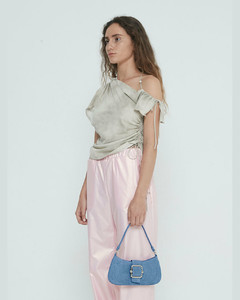 Tape XS grained-leather clutch bag