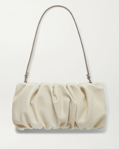 Bean Gathered Leather Shoulder Bag