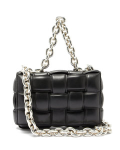 The Chain Cassette Intrecciato-leather bag