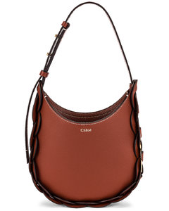 Chloe Small Darryl Hobo Shoulder Bag in Brown