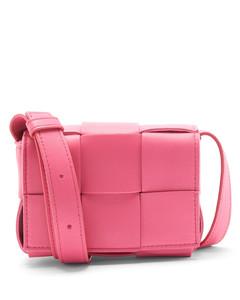 Cassette mini Intrecciato leather crossbody bag