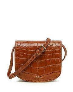 Dina Mini croc-effect leather bag