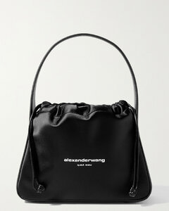 Ryan Leather-trimmed Printed Satin Tote