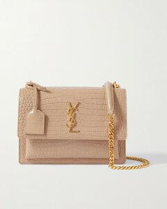 Sunset Small Croc-effect Patent-leather Shoulder Bag