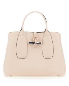 Suede Crystal-Embellished Clutch Bag