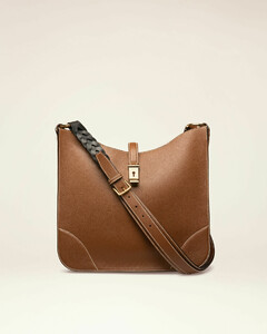 Leather Hobo Bag In Brown