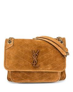 Medium Niki Chain Bag in Brown