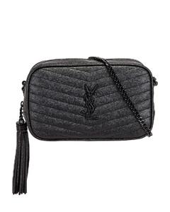 Mini Lou Chain Bag in Black