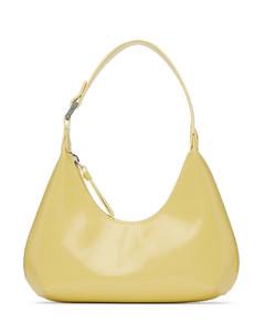 黄色Baby Amber漆皮单肩包