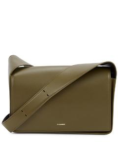 Sling olive leather shoulder bag