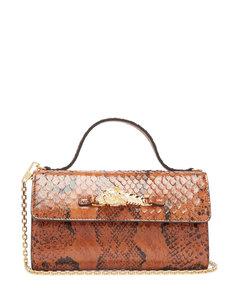 Broadway mini snakeskin crossbody bag