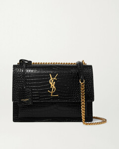 Sunset Small Croc-effect Patent-leather Shoulder Bag