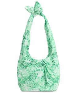 Printed Nylon Top Handle Bag