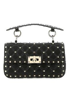 Gancini bag in hammered leather